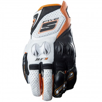 Guantes moto Five SF1 White Orange