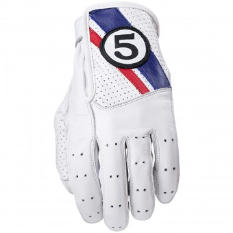 Guantes moto Five Texas White Blue