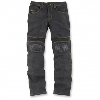 Pantalones moto ICON Overlord Riding Pant Dark Indigo