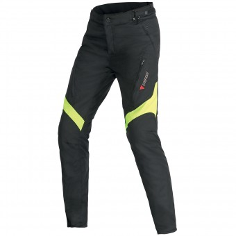 Pantalones moto Dainese Tempest Lady D-Dry Black Yellow Fluo Pant