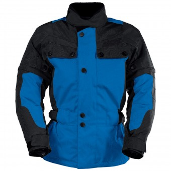 Cazadora moto IXS Explorer Jacket II Black Blue Kid