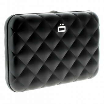 Regalos Ogon Quilted Button Black