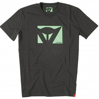 Camisetas Moto Dainese Color New Black Green Fluo