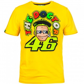 Camisetas Moto VR 46 T-Shirt Yellow Face VR46