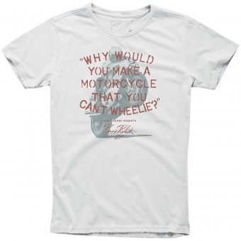 Camisetas Moto Alpinestars Wheelie Tee Off White
