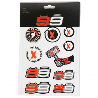 Kit Adhesivos Moto Jorge Lorenzo Stickers Small Lorenzo Multicolor