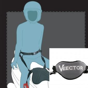 Seguridad Pasajero Veector Pan Belt 2 Gris - Negro