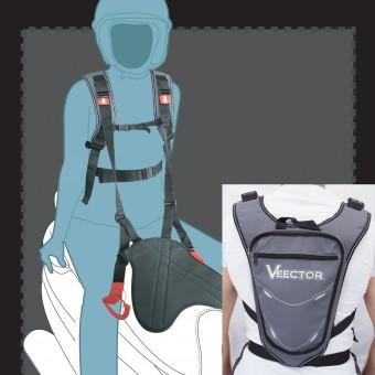 Seguridad Pasajero Veector Spyder Belt 2 Gris - Negro