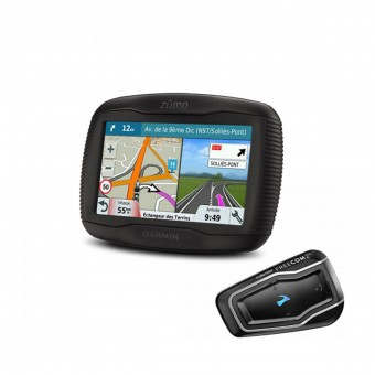 GPS - navegador Garmin Zumo 395 Travel Edition et Scala Rider Freecom 2