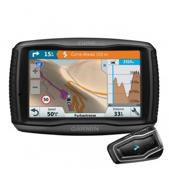 GPS - navegador Garmin Zumo 595 Travel Edition et Scala Rider Freecom 2