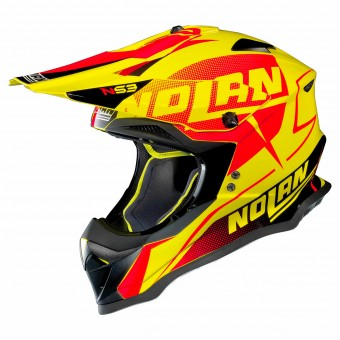 Casque Cross Nolan N53 Sidewinder Led Yellow 41