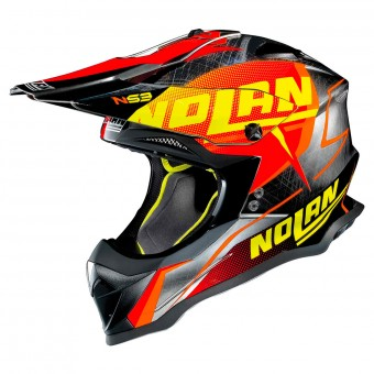 Casque Cross Nolan N53 Sidewinder Scratched Chrome 44