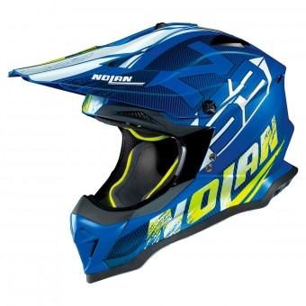 Casque Cross Nolan N53 Whoop Flat Denim Blue 48
