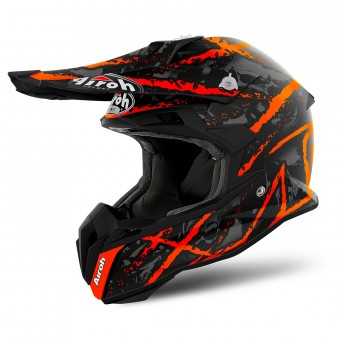 Casque Cross Airoh Terminator Open Vision Carnage Orange