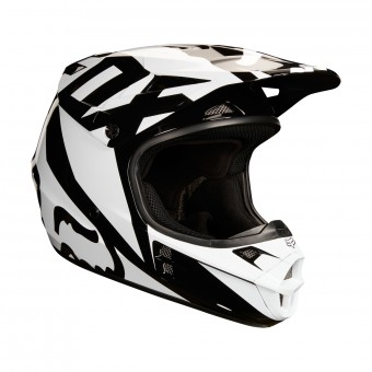 Casque Cross FOX V1 Race Black White