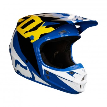Casque Cross FOX V1 Race Blue White