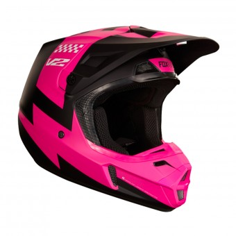 Casque Cross FOX V2 Master Black Pink