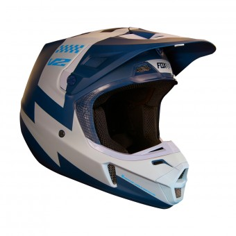 Casque Cross FOX V2 Master Navy