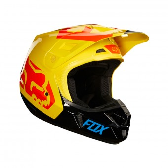 Casque Cross FOX V2 Preme Dark Yellow