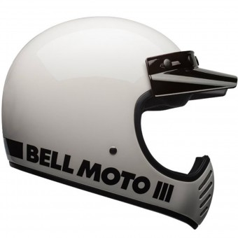Casque Cross Bell Moto-3 Classic White