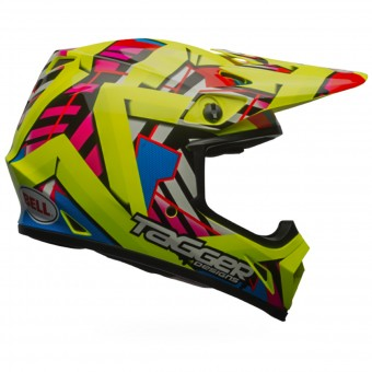 Casque Cross Bell MX-9 Mips Double Trouble Yellow
