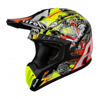 Casque Cross Airoh Switch Pirate Negro Gris