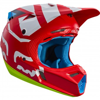 Casque Cross FOX V3 Creo Red 003