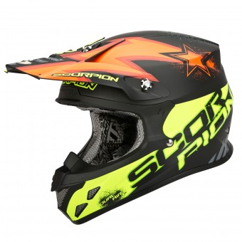 Casque Cross Scorpion VX-20 Air Magnus Orange Amarillo Fluo