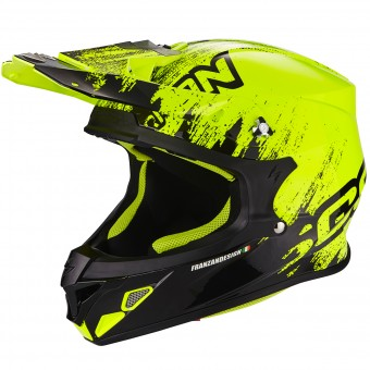 Casque Cross Scorpion VX-21 Air Mudirt Black Neon Yellow