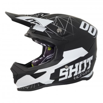 Casque Infantil SHOT Furious Spectre Black White Niño