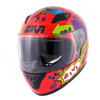 Casque Infantil Givi HJ04 Red Deco