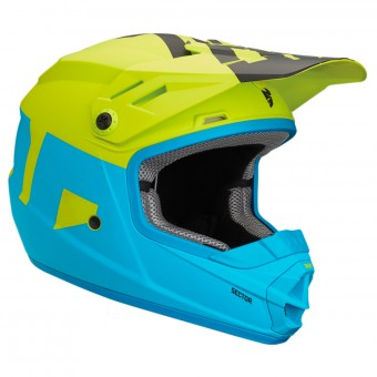 Casque Infantil Thor Sector Level Electric Blue Lime Niño