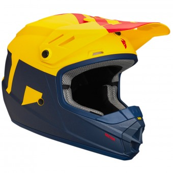 Casque Infantil Thor Sector Level Navy Yellow Niño