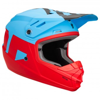 Casque Infantil Thor Sector Level Powder Blue Red Niño