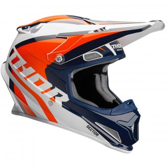 Casque Infantil Thor Sector Ricochet Navy Orange White Niño