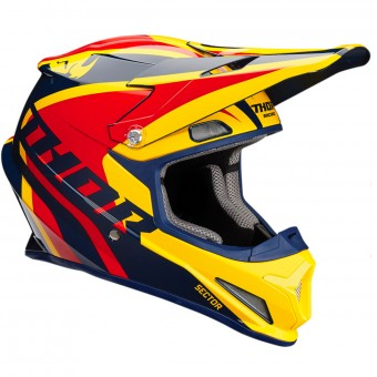 Casque Infantil Thor Sector Ricochet Navy Yellow Red Niño