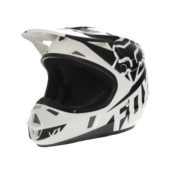 Casque Infantil FOX V1 Race Black White Niño