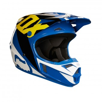 Casque Infantil FOX V1 Race Blue White Niño