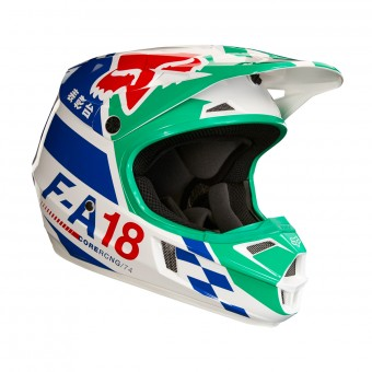 Casque Infantil FOX V1 Sayak Green Niño