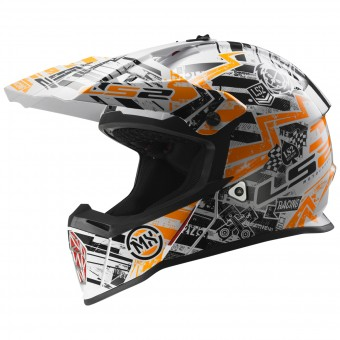 Casque Infantil LS2 Fast Mini Glitch Orange MX437J