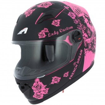 Casque Infantil Astone GT2 Kids Lady Custom Black Pink