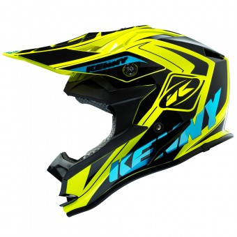Casque Infantil Kenny Performance Yellow Fluo Cyan Kid