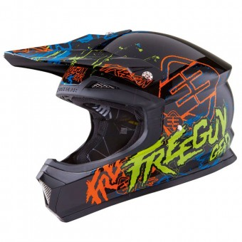 Casque Infantil Freegun XP-4 Overload Orange Green Niño