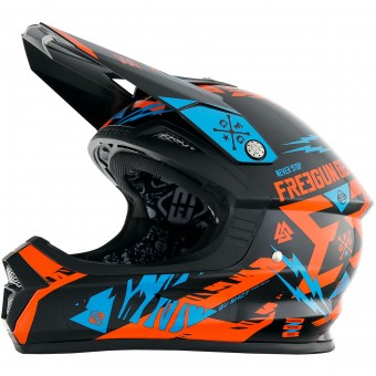 Casque Infantil Freegun XP-4 Trooper Neon Orange Cyan Niño