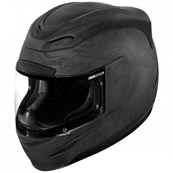 Casque Integral ICON Airmada Scrawl Matt Black