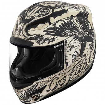 Casque Integral ICON Airmada Scrawl Matt White