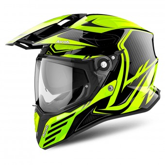 Casque Integral Airoh Commander Carbon Yellow