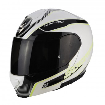 Casque Integral Scorpion Exo 3000 Air Stroll Pearl White Black Neon Yellow