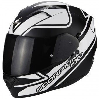 Casque Integral Scorpion EXO 1200 Air Freeway Negro Blanco Mate