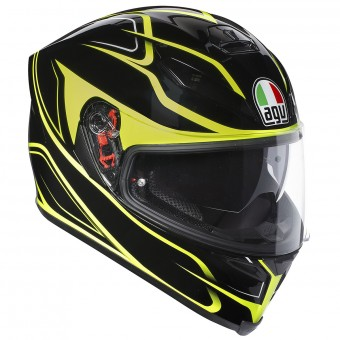Casque Integral AGV K-5 S Magnitude Black Yellow Fluo
